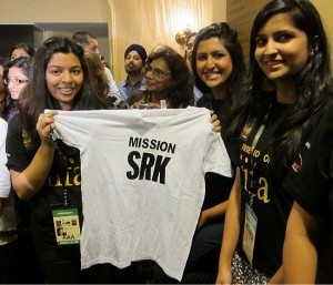 Photograph of fans of Shahrukh Khan at the IIFA Awards