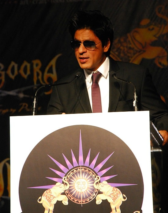 Shahrukh Khan at a press conference during the IIFA Awards in Toronto