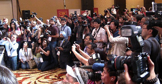 Some of the media at the IIFA press conference