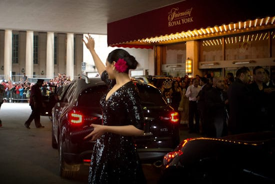 Photograph of Sonakshi Sinah at the Fairmont Royal York Hotel during IIFA Awards. Photo courtesy Andrew Adams of Katha Images.