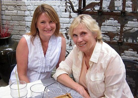 Mariellen Ward and Sylvia Fraser, July 2011