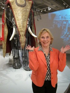 Sylvia Fraser at the Art Gallery of Ontario's Maharaja Exhibit, February 2011
