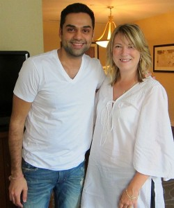 Photograph of Bollywood actor Abhay Deol and me after our interview