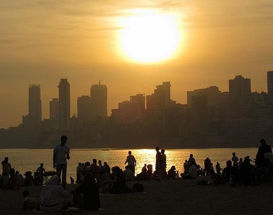 Photograph of Chowpatty Beach, Mumbai