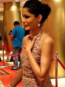 Photograph of Freida Pinto from Trishna premiere at TIFF 2011