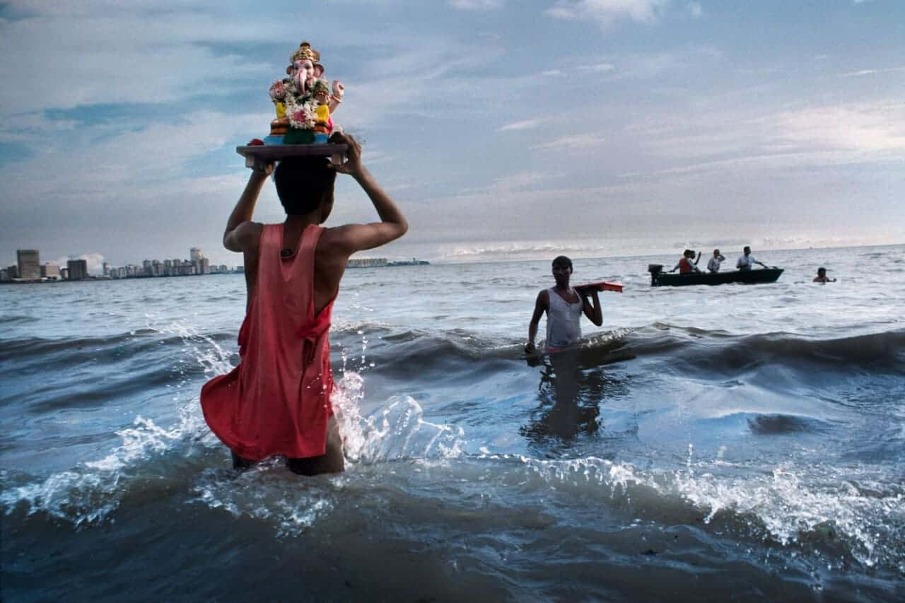 Ganesh immersion photo by Steve McCurry