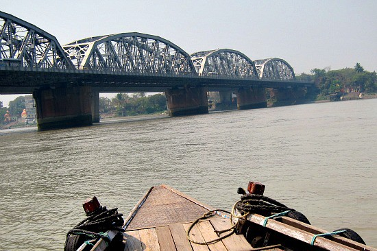 Photograph of Hoogly River and Howrah Bridge