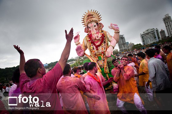 Photograph of Ganesh Chaturthi in Mumbai, India by Sephi Bergerson