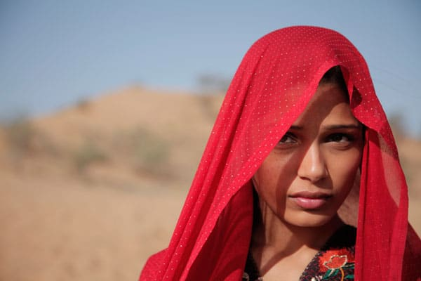 Photograph of Freida Pinto as Trishna in Michael Winterbottom's film