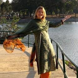 Photograph of Mariellen Ward in Karnal, Haryana, India