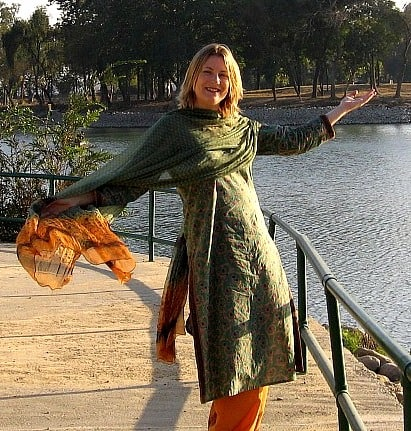 Photograph of Mariellen Ward in Karnal, Haryana, India