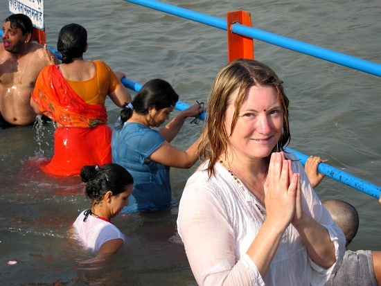Mariellen Ward at Kumbh Mela, Haridwar, India 2010