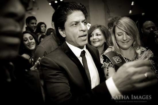 Shahrukh Khan and me on the red carpet at RaOne in Toronto. Photo by Andrew Adams of Katha Images.