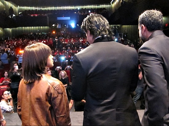Photo by me, taken behind SRK and co-stars on stage at RaOne premiere in Toronto
