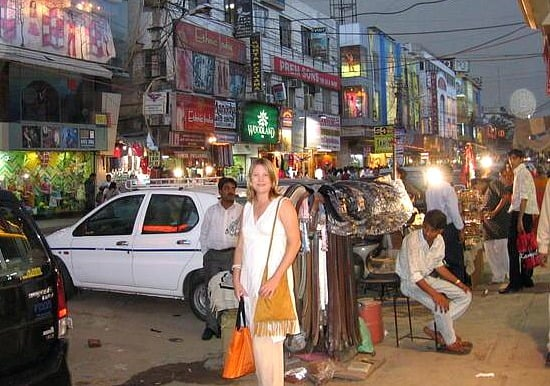 shopping at Karol Bagh Market, Delhi, India
