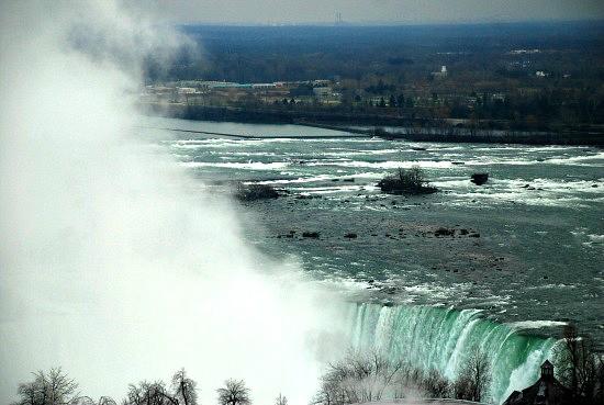 Photograph of Niagara Falls Ontario Canada in winter Hilton Niagara Falls Hotel