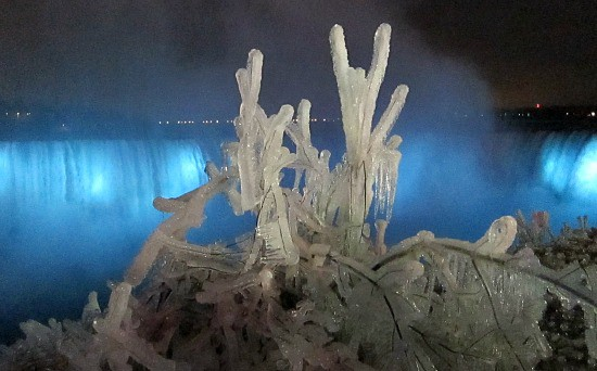 Photograph of Niagara Falls Ontario Canada in winter