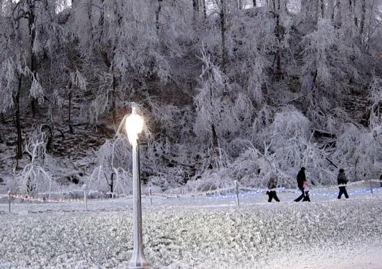 Photograph of Niagara Falls Ontario Canada in winter