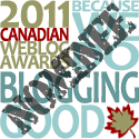 Breathedreamgo nominated for 3 Canadian Weblog Awards