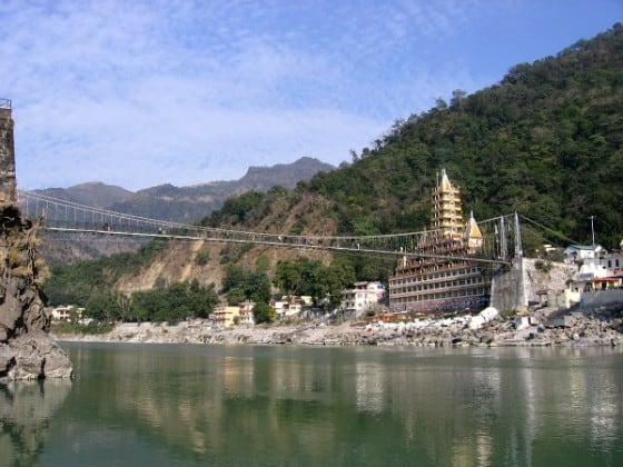 Lakshman Jhula bridge, RIshikesh, India yoga capital