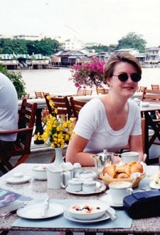 Photograph of Mariellen Ward of Breathedreamgo travelling in Bangkok, Thailand 1992