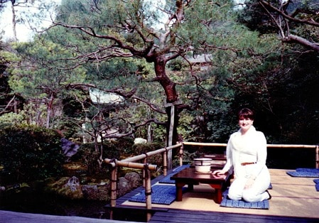 Photograph of Mariellen Ward of Breathedreamgo travelling in Kyoto Japan