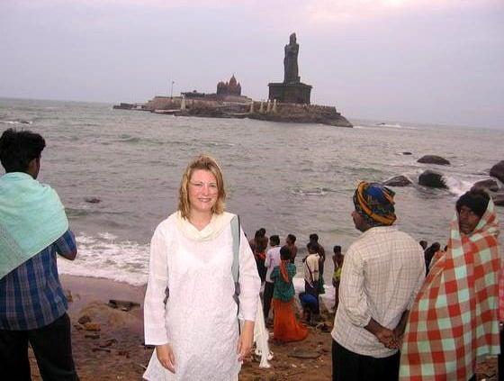 Mariellen Ward at Kanyakumari, Tamil Nadu, India, 2006