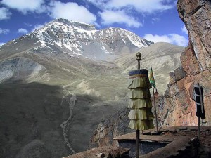 Photograph of the view from Shey Monastery, Nepal