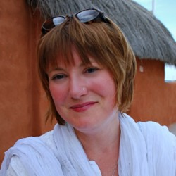 Mariellen Ward in Jaisalmer, Rajasthan, India
