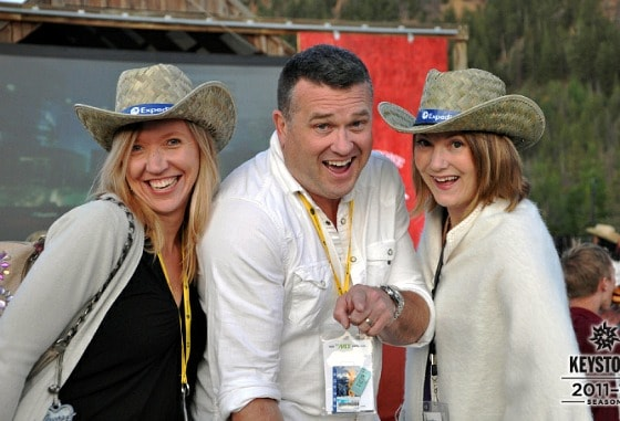 Tammy Burns, Spud Hilton, me at Expedia party, TBEX 12