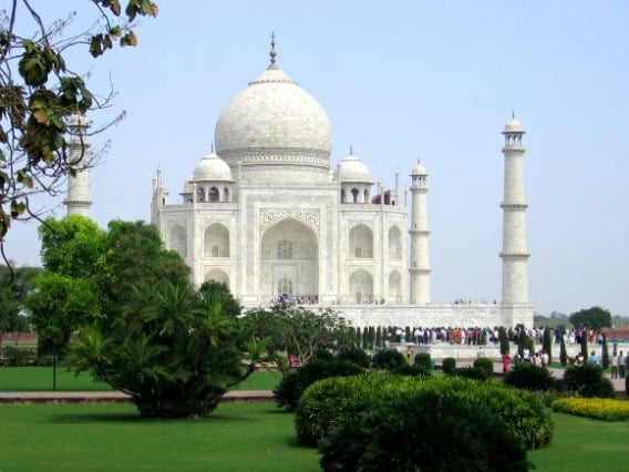 WHITE: The world's most beautiful building, the Taj Mahal