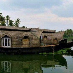 Backwater boats in Kerala, India.