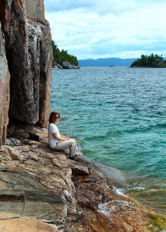 Agawa Rock Native Pictographs, Lake Superior, Algoma, Ontario