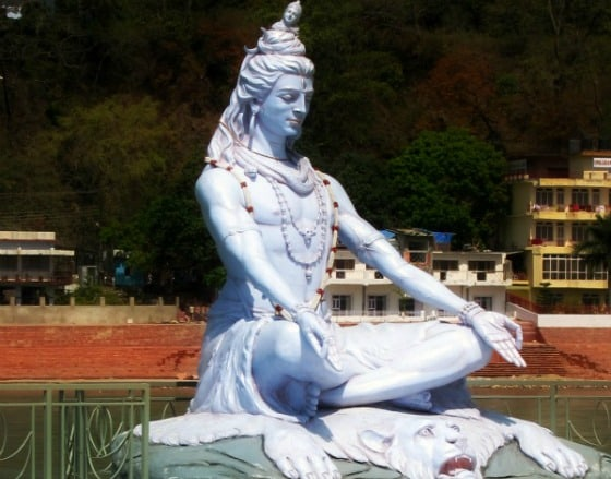 Shiva statue on the Ganga (Ganges) in Rishikesh, India