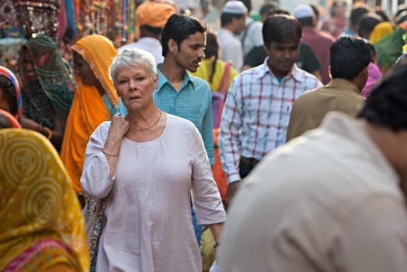 Judi Dench in Best Exotic Marigold Hotel (1)