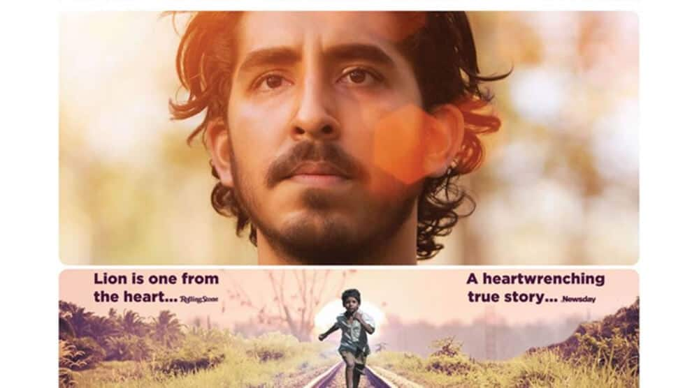 Lion with Dev Patel movie poster
