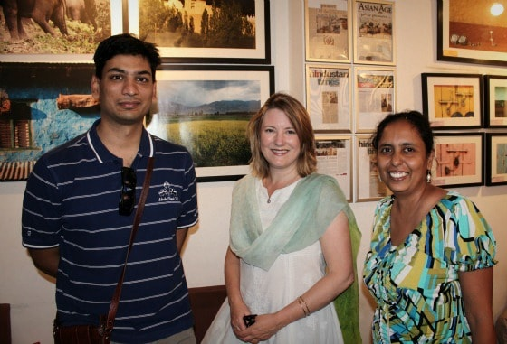 Ajay Jain of Kunzum Travel Cafe, me and Mridula of Travel Tales of India