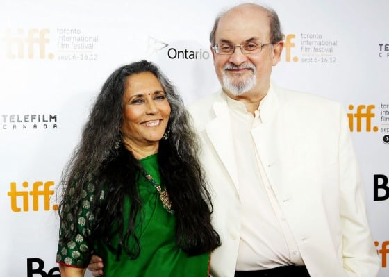 Director Deep Mehta and writer Salman Rushdie at TIFF. Photo credit: TIFF.