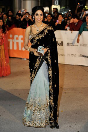Sridevi at TIFF for English Vinglish. Photo credit: TIFF