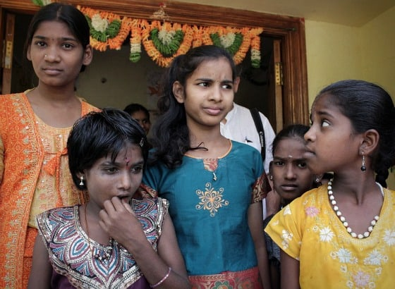 Some of the girls, both new and long-term, at TDH CORE in Tiruvannamalai, Tamil Nadu, India