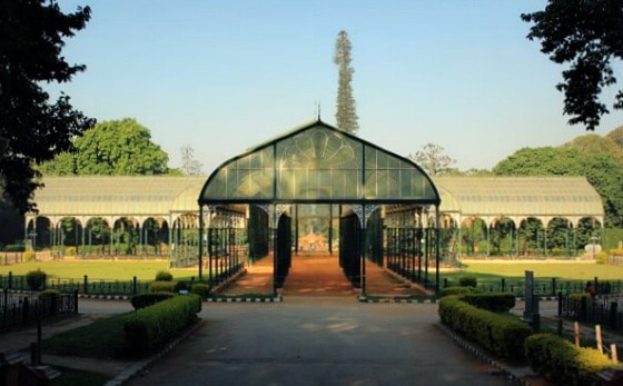 The Glasshouse of Lalbagh Garden, patterned after the famous Crystal Palace of London (19th century). Bangalore, India
