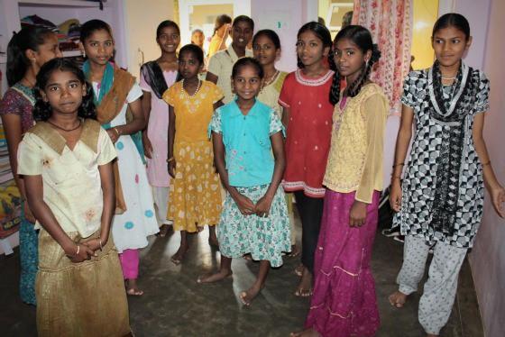 Girl children at TDH CORE in Tiruvannamalai, Tamil Nadu, India