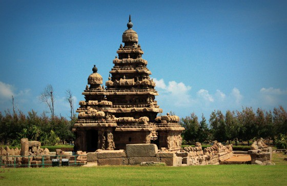 UNESCO World Heritage site: Shore Temple, Mamallapuram, Tamil Nadu, India