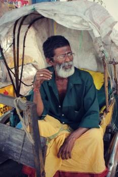 Rickshaw Puller, Near Kapaleeshwarar Temple, Chennai, Tamil Nadu, India