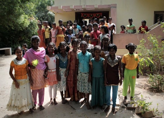 The girls who live in the girls' homes of TDH CORE in Tiruvannamalai, Tamil Nadu, India