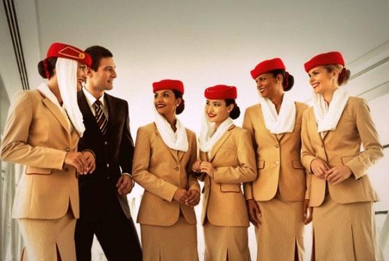 Emirates Airline flight to India