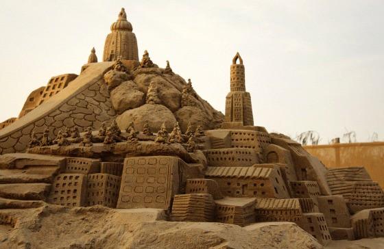 Konark Sun Temple Konark Festival - Odissi Dance Odisha India - International Sand Art Festival