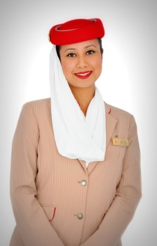 Emirates flight to India: Flight stewardess