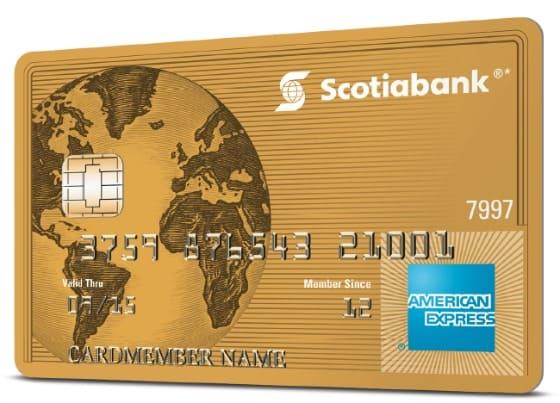 Scotiabank Gold American Express Card travel rewards card