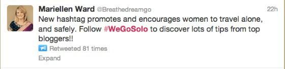 WeGoSolo women travel alone